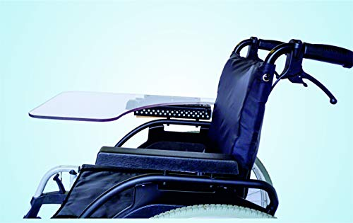 TheraMedical Abklappbarer Rollstuhltisch für SOPUR-Armlehnen (gerade, 4,4 cm)