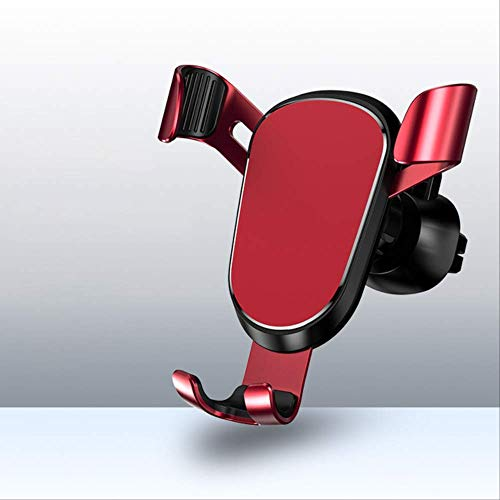 mengzhifei Soporte para Teléfono para Automóvil por Gravedad, Adecuado para Soporte para Teléfono Móvil con Ventilación, Adecuado para Soporte para Teléfono Móvil Rojo