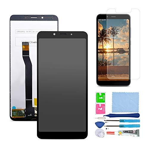 Pantalla LCD Táctil Asamblea Repuesto Compatible con Xiaomi Redmi 6A con Herramientas + Película Templada (Negro)