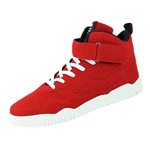 Homme Chaussures de Skateboard Overmal Baskets Hautes Mode Casual Respirantes Poids léger Comfortable Semelle Souple Antidérapant Lacets Chaussure de Sport Sneakers