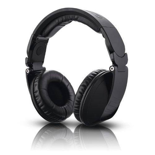 Reloop RHP-20 Knight DJ-Kopfhörer inkl. Tragetasche (drehbar & klappbar, Mini-XLR-zu-6,3mm-Klinke-Kabel 3m) schwarz
