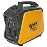Wolf 2000w Petrol Generator Portable Inverter Suitcase Lightweight Power Genie 6.5HP 4-Stroke Engine