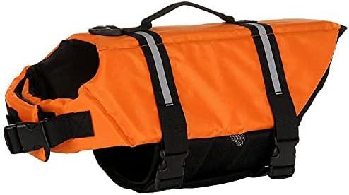 Izefia Dog Life Jacket Swimming Vest unisex Coat half Safety Floatation