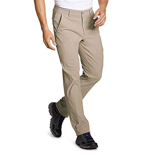 Eddie Bauer Men's Horizon Guide Chino Pants - Slim Fit, Light Khaki Regular 34/3