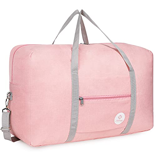 Bolsa de viaje plegable, de lona, ideal para fines de semana o para llevar al gimnasio, equipaje de...