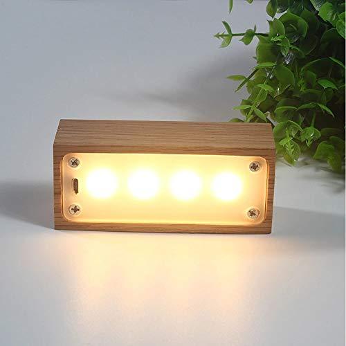 Xin Modelos De Explosión Luz De Noche LED De Madera Maciza: Lámpara De Escritorio De Carga Táctil USB/Dimensiones Externas 95x32x40 (mm) / Voltaje ≤ 36V (V) Xin