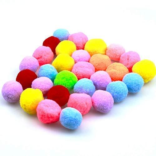 SHURADO Katzen Spielzeug bälle, 3 cm * 30 stücke Katze elastische Kugeln, Bunte kätzchen pet plüsch kratzen kauen Spielzeug bälle, DIY Handwerk versorgung stoßstange Pompon bälle