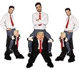 Wilbers Huckepack Kostüm - Mann auf Trump Gr. M/L - Hucke Pack Präsident Huckepack