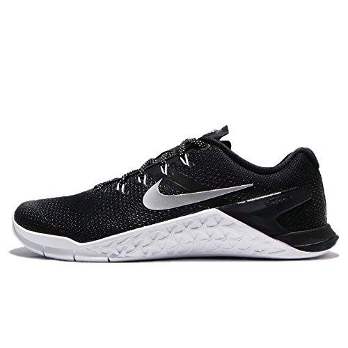 Nike Wmns Metcon 4, Zapatillas de Gimnasia Mujer, Negro (Black/Metallic Silver/White/Volt Glow 001),...