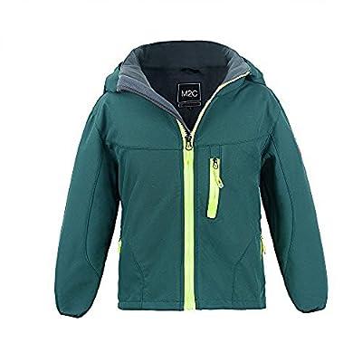 M2C Boys Hooded Winter Windbreaker Softshell Jacket Fleece Lined Jackets, Green, 7T