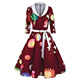 Christmas Dresses for Women Ugly Xmas Short Sleeve/Cap Sleeve/Long Sleeve Casual Aline Party Dresses