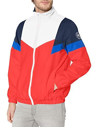 Perry Ellis - Men's Outerwear Men's Lightweight Colorblock Active Outdoor Jacket, Orange, S