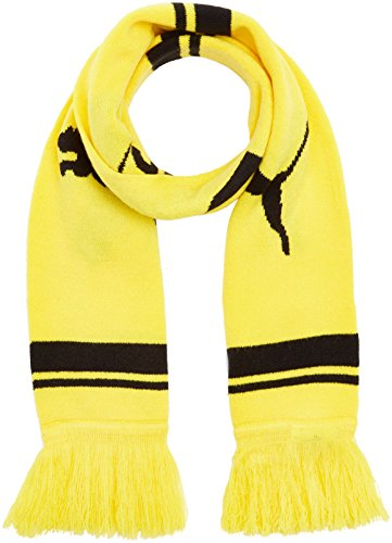 PUMA BVB Fan Scarf Schal, Cyber Yellow/Black, One Size