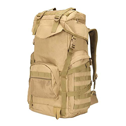 Madeinely Camping Backpack 50L Large Hiking Backpack Travel Molle Bag Travel Functional Daypack Hiking Backpacks