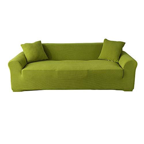 Gelozed Stretch Loveseat Sofa Slipcover Furniture Protector 2 Seater Coat Soft with Elastic Bottom Checks Spandex Jacquard Fabric Medium (Avocado, M)