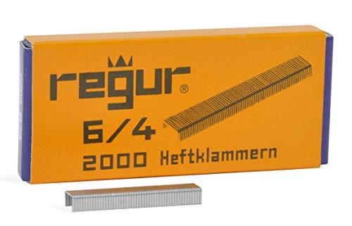 REGUR Typ 6 Heftklammern - Tackerklammern in der Länge 6/4 mm silber für REGUR 64 Heftzange