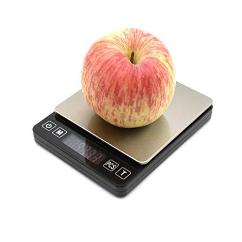 LJP 1kg / 0,01 Balance Cuisine Numérique Balance Alimentaire Électronique LCD Design Compact Balance Cuisson À Pesée Précise Facile À Lire Et À Nettoyer (Size : 1kg/0.01g)