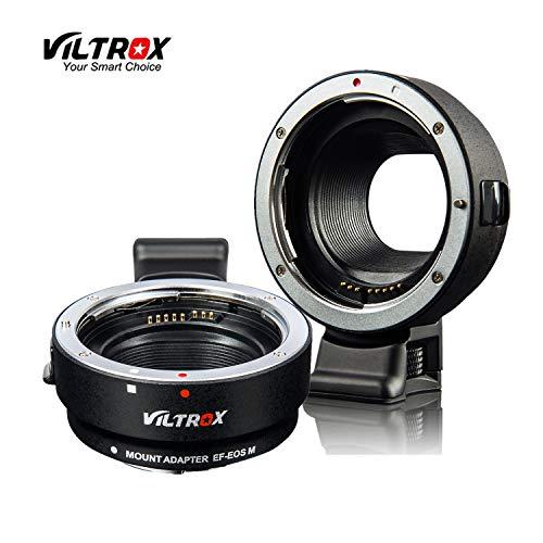 VILTROX EF-EOS M - Adaptador de Objetivo para Canon EOS EF/EF-S D/SLR a Canon EF-M sin Espejo, cámara EOS M100 M50 M3 M10 M6 M5