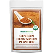 Healthworks Ceylon Cinnamon Powder Ground Raw Organic (16 Ounces / 1 Pound) | Keto, Vegan & Non-GMO | Great with Coffee, Tea & Oatmeal | Premium Antioxidant Superfood/Spice