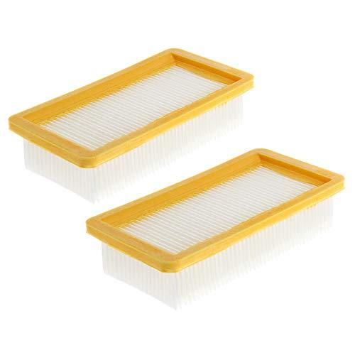 2x Filter für Kärcher AD Serie wie AD 2, AD 4 Premium, AD 3000, AD 3200, AD 3 Premium Fireplace, Flachfaltenfilter komp. 6.415-953.0, Lamellenfilter für Kärcher, Staubsaugerfilter von CleanMonster