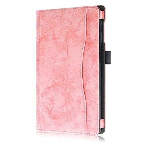 HHF Tab Accessories For Samsung Galaxy Tab A 2019 10.1 T510 T515, Hand Holder+pen PU Leather Tablet Cover For Samsung Tab A 10.1 (Color : Pink)