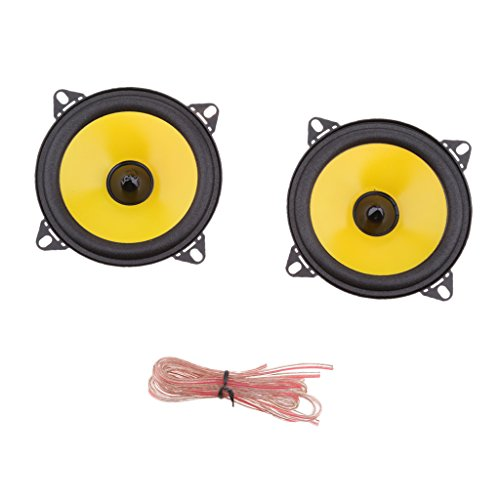 1 Par 80W Total 2 Vías 4 Pulgadas 10cm Car Audio Puerta/Estante Altavoces Coaxiales