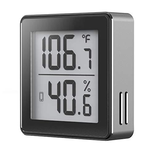 Bluetooth-Thermometer-Hygrometer für iPhone/Android. Smarter Temperatur- u. Feuchtigkeitssensor mit Alarmfunktion. App auch auf Deutsch erhältlich!