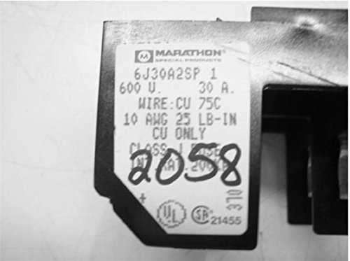 Marathon Outstanding 6J30a2sp Fuse Block Holder 600V Cu 30 Max 72% OFF Wire: Amp 75C