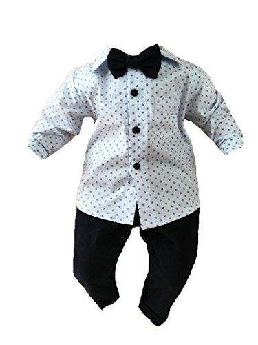 Soffi Kids Taufanzug Festanzug Hochzeit Anzug 3 Teilig Set ver. Farben (80, Blau)