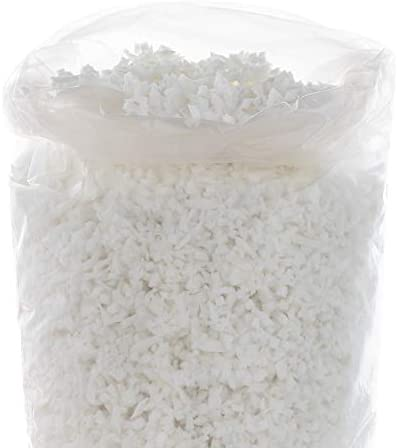 Linenspa Premium Shredded Memory Foam Premium All White Craft Foam Replacement Fill for Pillows product image