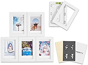 MAGNAFRAME Magnetic Picture Frame for Fuji Instax Mini Photos - Photo Gallery 6 Pack (White)
