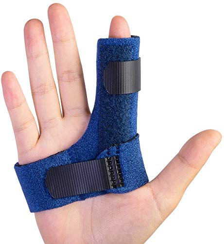 Einstellbare Trigger Finger Schiene für Finger Steifigkeit mit extra Haken & Loop Tape Fit alle Finger, Klick & Popping Schmerzlinderung von Stenose Tenosynovitis, Immobilisierung der Fingerknöchel