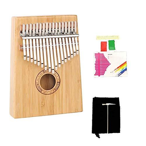 Yuzhonghua 17-Tasten Klavier afrikanische Musikinstrumente, professionelles solide Marimba, Anfänger Mode Persönlichkeit Instrument (Color : Originalsound)
