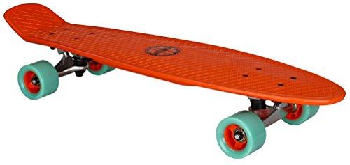 Nijdam Skateboard Kunststoff Flipgrip Board Plastik, Rot/Mintgrün, One Size/28 Zoll