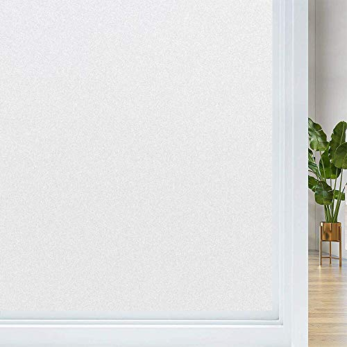LMKJ Opaque Privacy Self-Adhesive Film, Frosted Glass electrostatic Self-Adhesive Film, Used for Home Office Privacy Film A71 30x200cm