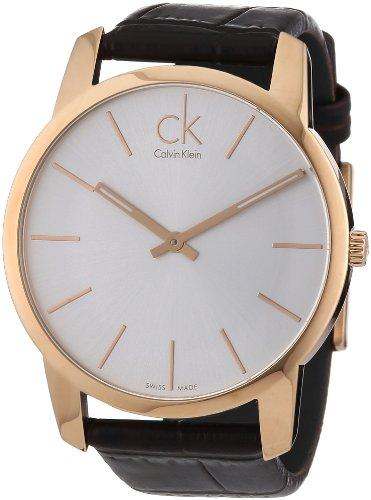 Calvin Klein Calvin Klein City K2G21629 PVD rosagold - Reloj analógico de Cuarzo para Hombre, Correa de Cuero Color marrón