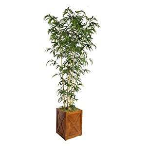 Vintage Home 81″ Tall Natural Bamboo Tree in 13″ Planter Artificial Plant