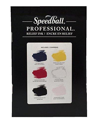 Speedball 3981 Professional Relief 6 Color Ink Set, Multicolor