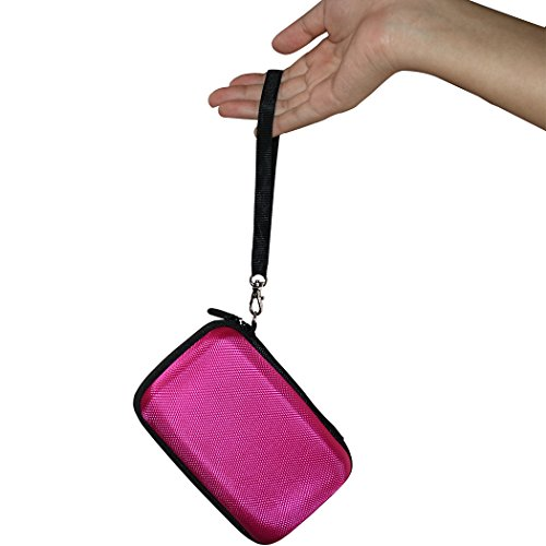 Faylapa Hard Case for HP Sprocket,EVA Nylon Shockproof Carrying Bag fit Phone Sprocket Portable Photo Printer,Anker Hard Drive (Rose Red) Photo #4