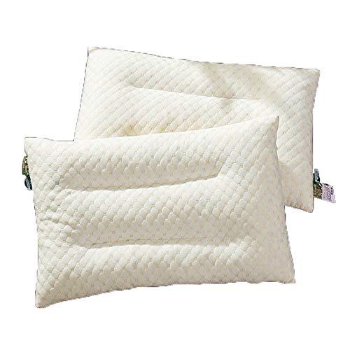CGGDP Kopfkissen aus Natur Latex, festes umweltfreundliches Schaumkissen aus Latexgranulat, Standardgröße - 30 x 50 cm, 2 Stck