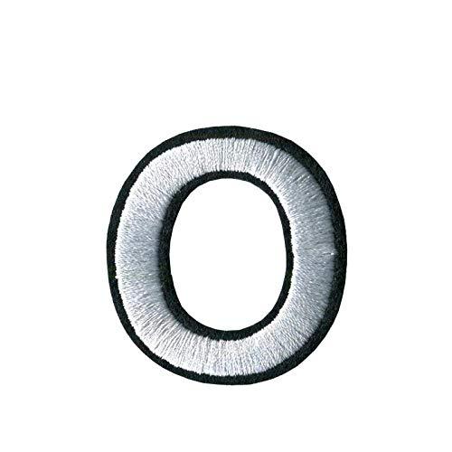 Patches Zum Aufbügeln 45Mm Hoch 3Pc A-Z 0-9 Weiß Arial Englisch Alphabet Buchstaben Gemischt Gesticktes Eisen Auf Patches Abzeichen Aufnähen Für Kleidung Pant Bag-Ö