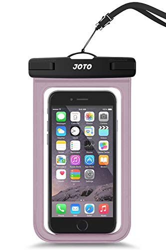 "JOTO Universal Waterproof Pouch Cellphone Dry Bag Case for iPhone 11 Pro Max XS Max XR XS X 8 7 6S Plus, Galaxy S10 Plus S10e S9 Plus S8 + Note 10+ 10 9 8, Pixel 3 XL Pixel 3 2 up to 6.8"" -Clearpurple"