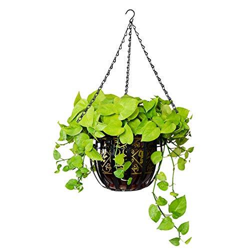 anruo 3-punts tuinmanden IJzeren ketting Bloemplanter Pottenhouder Vervanging Hangende kettingen met haak voor thuis Tuingereedschap | Bloempotten en plantenbakken