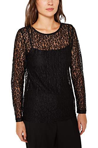 ESPRIT Damska koszulka z długim rękawem, 001/Black, M