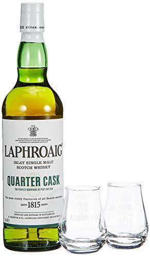 Laphroaig Quarter Cask + 2 Nosing Glas Single Malt Whisky (1 x 0.7 l)