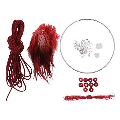 dailymall Kit Attrape-Rêve - Accessoires de Bricolage - Excellent Cadeau pour Filles - Rouge