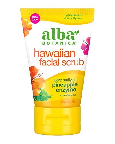 Alba Botanica Hawaiian, Pineapple Enzyme Facial Scrub, 4 Ounce