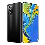 NOTE60pro Teléfono Inteligente con Pantalla de Caída de Agua CE 7 Pulgadas, Memoria de 12 GB + 512 GB Puede Mostrar Red 4G / 5G, Batería de 5600 Mah, Teléfono Inteligente Barato (Color : Black)