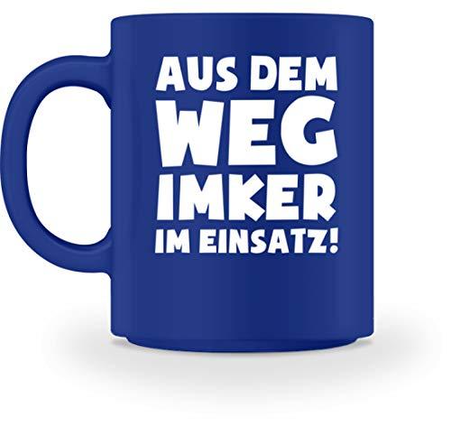 shirt-o-magic Imkern: Imker im Einsatz! - Tasse -M-Royal Blau