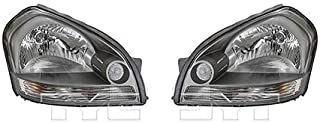 CarLights360: Fits 2005 2006 2007 2008 Hyundai Tucson Headlight Assembly Driver and Passenger Side w/Bulbs - Replaces HY2502133 HY2503133 (Vehicle Trim: To 05/2008)